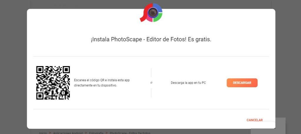 Photoscape para móvil