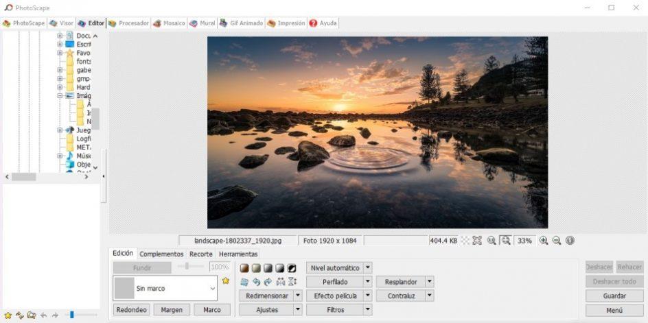 descargar editor de fotos Photoscape